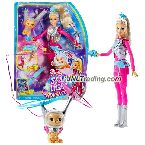 Mattel Year 2015 Barbie Star Light Adventure Series 12 Inch Electronic Doll - GALAXY BARBIE and FLYING CAT (DLT22)