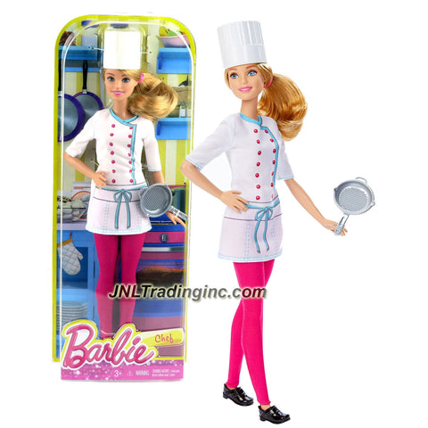 Mattel Year 2015 Barbie Career Series 12 Inch Doll - Barbie as CHEF (DHB22) with Chef Hat and Pan