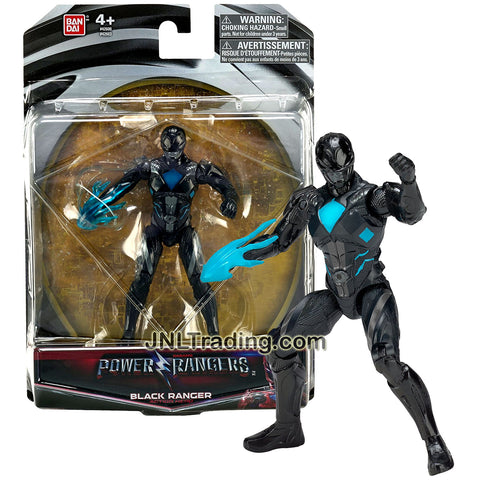Bandai Year 2016 Saban's Power Rangers Movie Series 5 Inch Tall Action Figure - Action Hero BLACK RANGER with Blue Flame