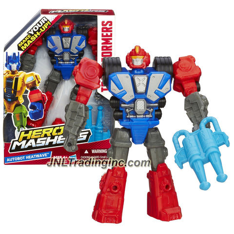 Hasbro Year 2014 Transformers Hero Mashers Series 6 Inch Tall Action Figure - AUTOBOT HEATWAVE with Detachable Hands and Legs Plus Cannon Blasters
