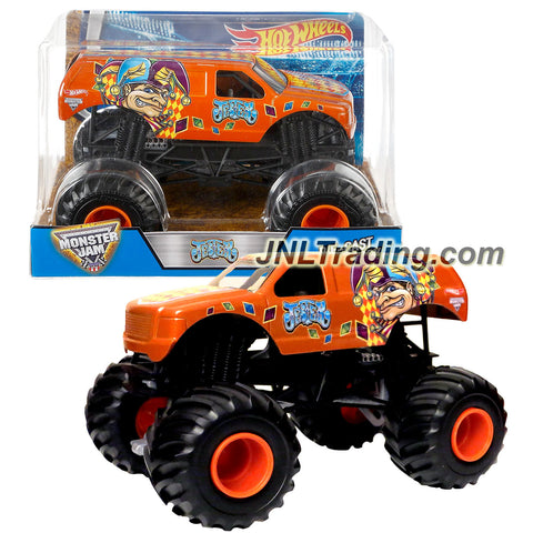 Hot Wheels Year 2016 Monster Jam 1:24 Scale Die Cast Metal Body Official Truck - JESTER (DJW95) with Monster Tires, Working Suspension and 4 Wheel Steering
