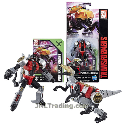 Transformers Year 2017 Generations Power of the Primes Series Legends Class 4 Inch Tall Figure - DINOBOT SLASH with Collector Card (Beast: Velociraptor)