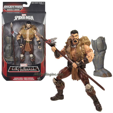 "Hasbro Year 2015 Marvel Legends Infinite Rhino Series 6"" Tall Action Figure - Savage Force KRAVEN with Spear and Rhino's Right Leg"