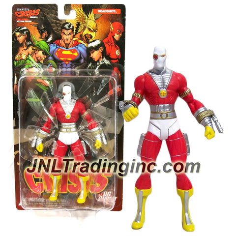 DC Direct Year 2005 Series 1 DC Comics Brad Meltzer's Identity Crisis 6-1/2 Collector Action Figure - DEADSHOT with Multiple Points of Articulation and Display Base