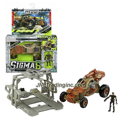Hasbro Year 2006 G.I. JOE Sigma 6 Mission Manual Series 5-1/2 Inch Long Action Figure Vehicle Set - HEAT WAVE with Pull Back Motor DUNE RUNNER, TUNNEL RAT, Removable Turret, Missile Launcher with 1 Missile and Drop Cage