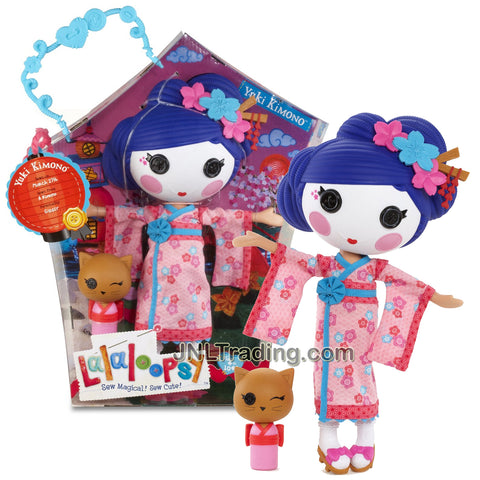 Lalaloopsy Sew Magical! Sew Cute! 12 Inch Tall Button Doll - Yuki Kimono with Pet Brown Cat