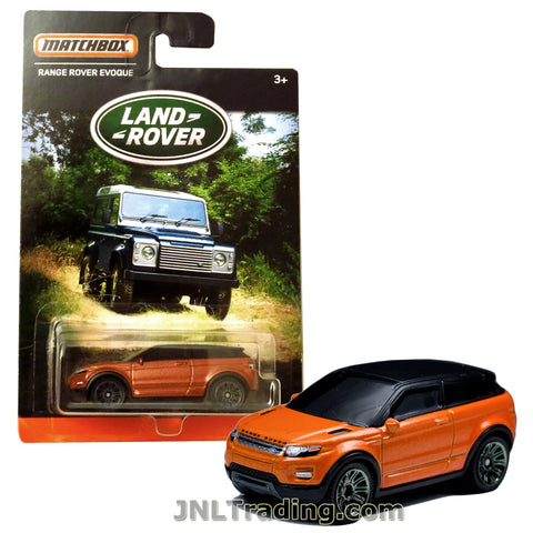 Matchbox Year 2016 Land Rover Series 1:64 Scale Die Cast Metal Car - Copper Color Luxury Sport Utility Vehicle SUV RANGE ROVER EVOQUE DPT08