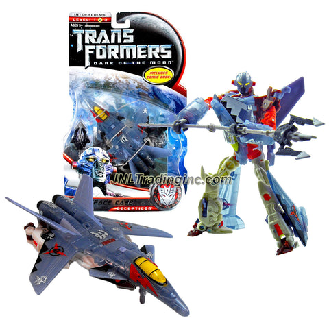 "Hasbro Year 2010 Transformers Movie Series 3 ""Dark of the Moon"" Exclusive Deluxe Class 6 Inch Tall Robot Action Figure - Decepticon SPACE CASE with Spear that Converts to Trident Plus Bonus Comic Book (Vehicle Mode: Sukhoi SU-47 Fighter Jet)"