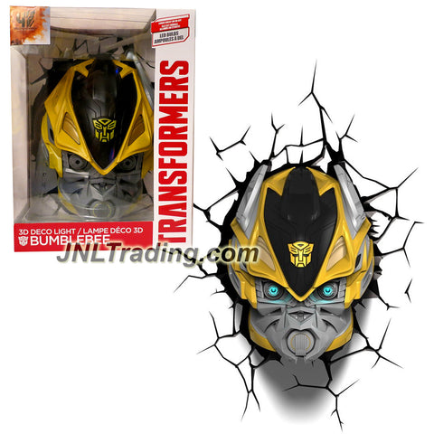 3DLightFX Transformers Movie Age of Extinction Series Battery Operated 10 Inch Tall 3D Deco Night Light - BUMBLEBEE with Light Up LED Bulbs and Crack Sticker