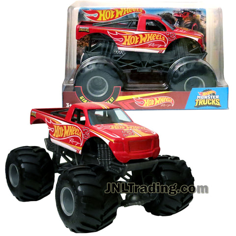 Hot Wheels Year 2017 Monster Jam 1:24 Scale Die Cast Metal Body Official Monster Truck Series - HOT WHEELS RACING FYJ85 with Monster Tires, Working Suspension and 4 Wheel Steering