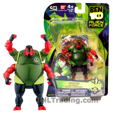Cartoon Network Year 2009 Ben 10 Alien Force Collection Series 4 Inch Tall Figure - Tetramand GORVAN with Collectible Card
