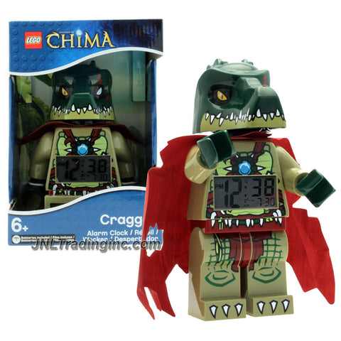 Lego Year 2013 Legends of Chima Series 8 Inch Tall Figure Alarm Clock Set# 9000577 - CRAGGER with Moving Arms, Legs and Wrists Plus Backlight Display