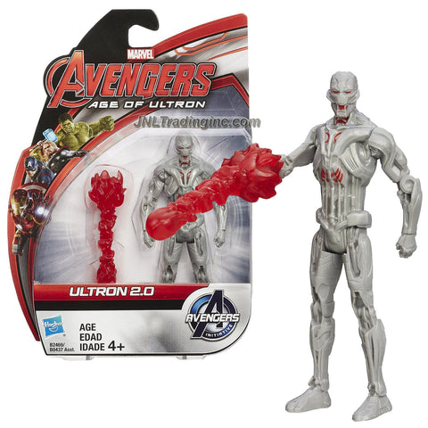 Hasbro Year 2015 Marvel Avengers Age of Ultron Series 4 Inch Tall Action Figure - ULTRON 2.0 with Energy Blast