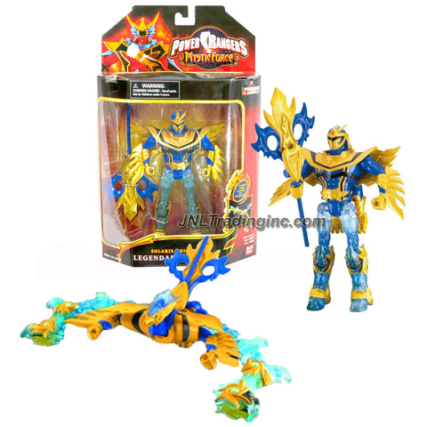 Bandai Year 2006 Power Rangers Mystic Force Series 7 Inch Tall Action Figure - SOLARIS KNIGHT to LEGENDARY PHOENIX with Mystic Staff
