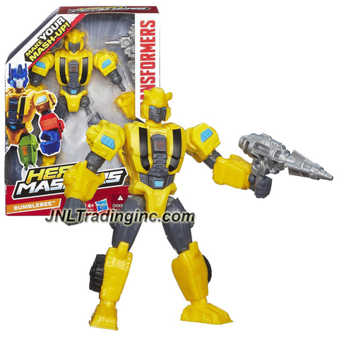 Hasbro Year 2013 Transformers Hero Mashers Series 6 Inch Tall Action Figure - BUMBLEBEE with Detachable Hands and Legs Plus Blaster Gun