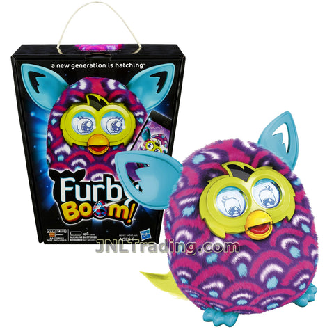 Furby Year 2013 Boom Series 5 Inch Tall Electronic App Plush Toy Figure - Purple, Pink and White Scale Pattern FURBY