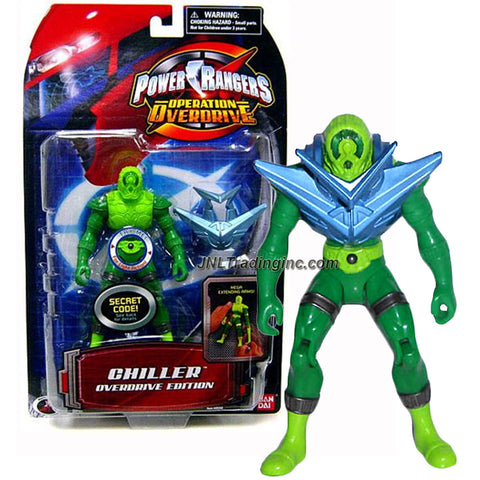 Bandai Year 2007 Power Rangers Operation Overdrive Series 6 Inch Tall Action Figure - Villain CHILLER with Extending Arm and Light Up Feature Plus Shoulder Armor