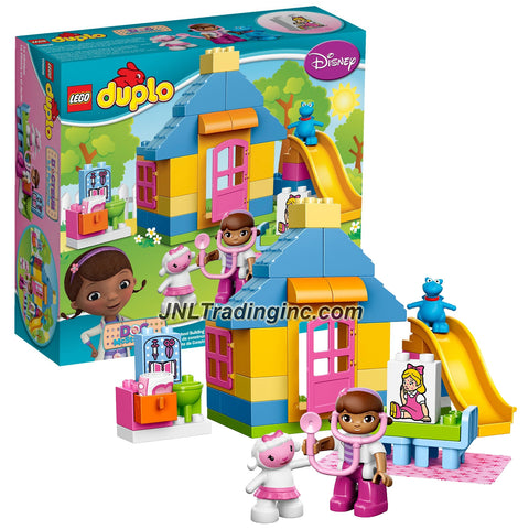 Lego Year 2015 Duplo Doc McStuffins Series Set #10606 - BACKYARD CLINIC with Medical Tools Plus Doc McStuffins, Lambie and Stuffy Figure (Pieces: 39)