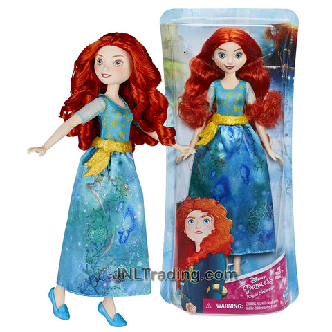 Year 2017 Disney Princess Royal Shimmer Series 12 Inch Doll - MERIDA B6447 from Brave with Belt