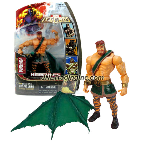 Hasbro Year 2006 Marvel Legends Build A Figure Annihilus Series 7-1/2 Inch Tall Action Figure - HERCULES with Golden Mace and Annihilus' Wing