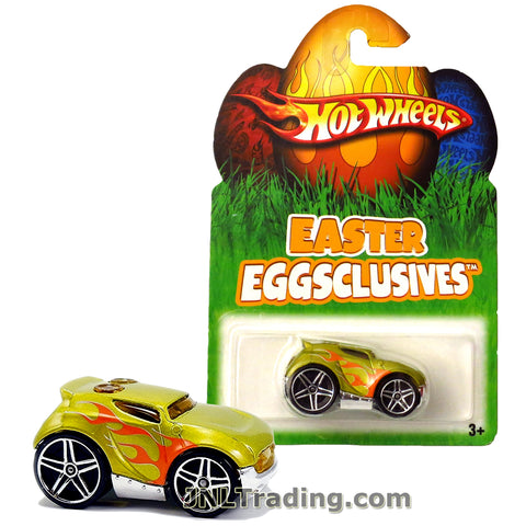 Hot Wheels Year 2007 Easter Eggsclusives Series 1:64 Scale Die Cast Car Set - Green Color Compact Car ROCKET BOX N1141