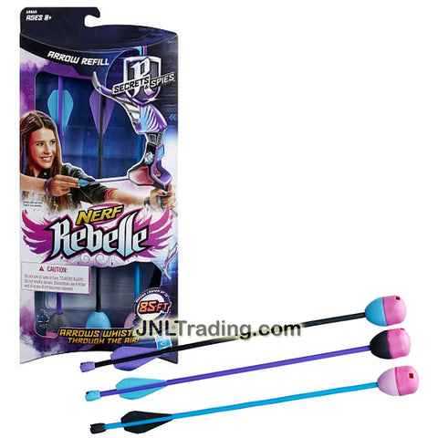 Nerf Rebelle Year 2014 Secrets & Spies Series ARROW REFILL with 3 Whistling Arrows