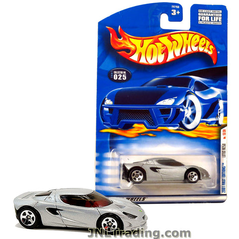 Hot Wheels Year 2001 First Editions Series 1:64 Scale Die Cast Car Set #13 - Silver Color Luxury Sports Coupe LOTUS M250
