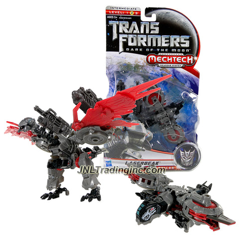 "Hasbro Year 2010 Transformers Movie Series 3 ""Dark of the Moon"" Deluxe Class 6 Inch Tall Robot Action Figure with MechTech Weapon System - Decepticon LASERBEAK with Convertible Dual-Barrel Cybertronian Cannon (Vehicle Mode: Hover Jet)"