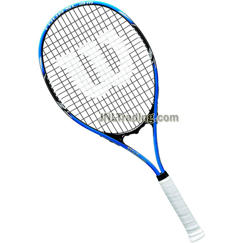 "Wilson Tour Slam Lite Adult Starter Player Tennis Racket with 112"" Oversized Head, Stop Shock Pads, Bumper Guard and Power Strings (Grip: 4-3/8"")"
