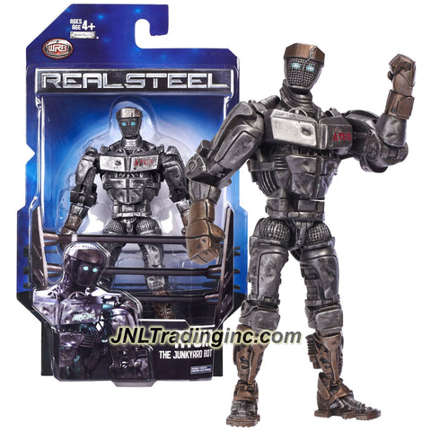 Jakks Pacific Year 2011 Real Steel Movie Series 8 Inch Tall Action Figure - The Junkyard Bot ATOM with Signature Move Double Uppercut
