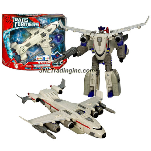 Hasbro Year 2007 Transformers Movie All Spark Power Series Ultra Class 9 Inch Tall Robot Action Figure - Decepticon JETSTORM with Electronic Lights and Sounds Plus Missile (Vehicle Mode: Cargo Plane)