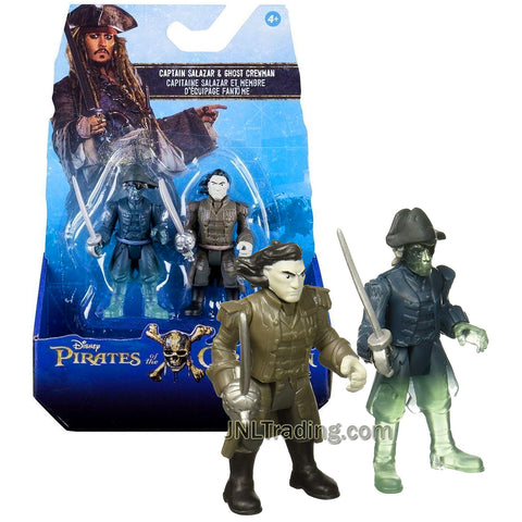Pirates POTC of the Caribbean Dead Men Tell No Tales Series 2 Pack 3 Inch Tall Figure - Captain Salazar and Ghost Crewman