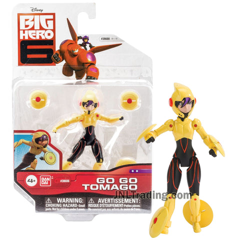 Year 2014 Disney Big Hero 6 Movie Series 4 Inch Tall Action Figure - GO GO TOMAGO with 4 Maglev Discs