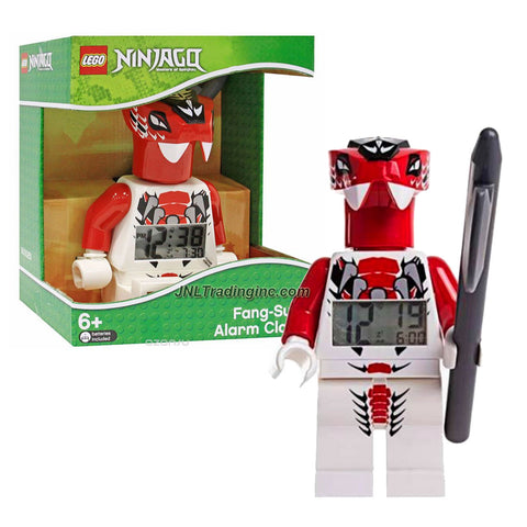 "Lego Year 2014 Ninjago Masters of Spinjitzu Series 8"" Tall Figure Alarm Clock Set# 9003080 : FANG-SUEI with Moving Arms and Legs Plus Backlight Display"