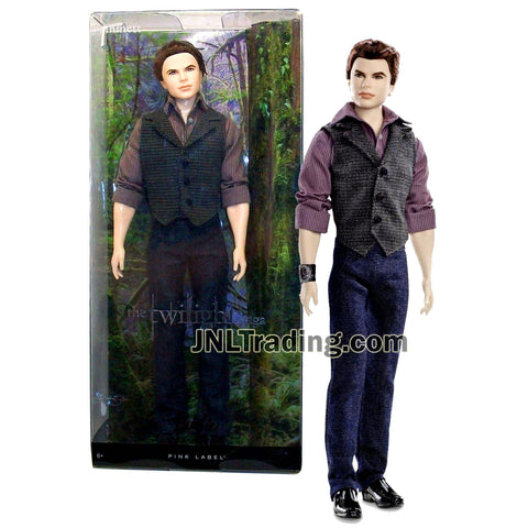 "Mattel Year 2012 Barbie Pink Label Collector Movie Series "" The Twilight Saga"" 12 Inch Doll Set - Vegetarian Vampire EMMETT CULLEN (Y5910) with Long Sleeve Button-Up Shirt, Vest, Denim Pants and Shoes"