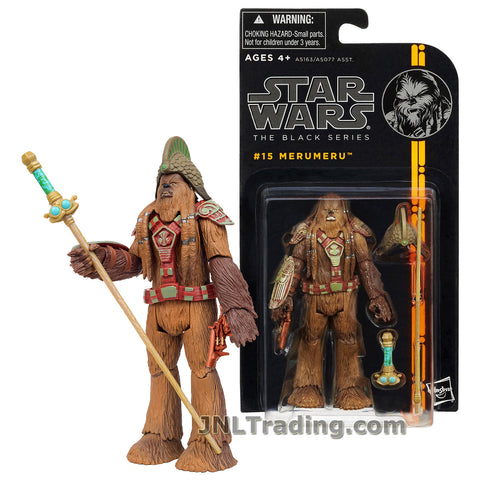 Star Wars Year 2013 The Black Series 4-1/2 Inch Tall Action Figure #15 - MERUMERU with Helmet, Blaster and Battle Staff with Removable Handle