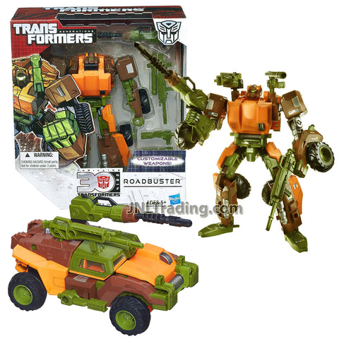 Year 2014 Transformers Generations Thrilling 30 Series Voyager Class 7 Inch Tall Robot Figure - ROADBUSTER with Customizable Weapons (Vehicle: Combat 4x4 ATV)