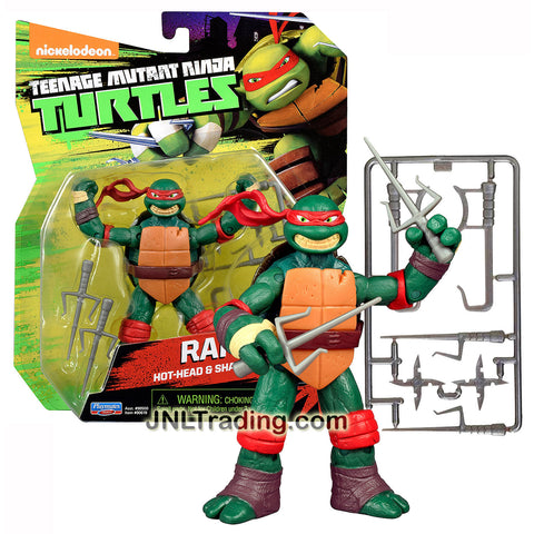 Playmates Year 2015 Teenage Mutant Ninja Turtles 4 Inch Tall Figure - Hot Head & Sharp Sai Expert RAPHAEL with Sais, Hook Sword and Shuriken Stars