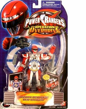 NEW Bandai Power Rangers Operation Overdrive Figure MISSION RESPONSE RED RANGER