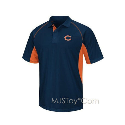 NWT NFL Chicago Bears Men Golf Polo Comfort Stretch Moisture Wick Shirt Size S