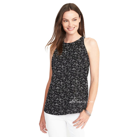 2855d97392bd Old Navy Women Cute Stylist Summer Relaxed High-Neck Rayon Tank Top Sh – JNL  Trading