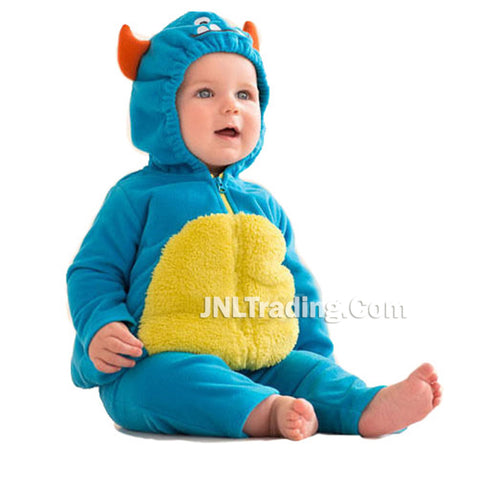 Carter's 2 Pcs Halloween Blue Monster Warm Bubble Baby Fleece Hooded Costume