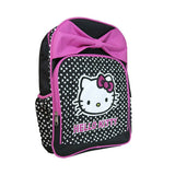 NEW Black Pink Bow Hello Kitty School Backpack & Insulated Thermos Lunch Bag Set