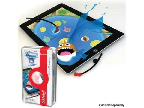 NIB iPieces Fishing Game 4 Rods on any IPad Play Arcade Style Game App Included
