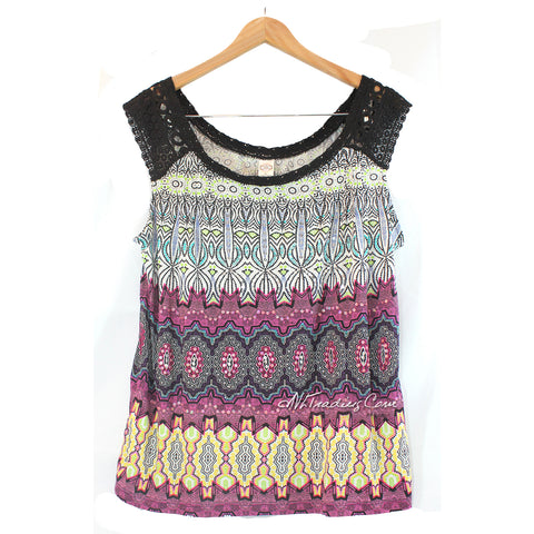 Bila Women's Luxurious Beaded Sleeveless Tee Flattering Top Stylist Shirt