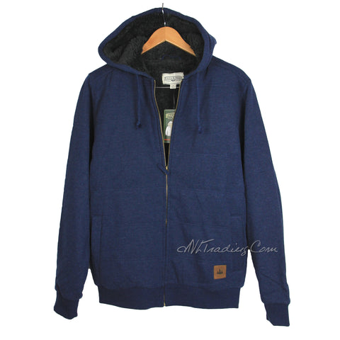 Field & Stream Quilted Men's Sherpa Lined Hoodie Hooded Sweatshirt Jacket