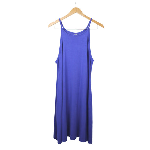 81eb9d53cb1c Old Navy Solid Blue Knit Spaghetti Strap Cute Summer Midi dress – JNL  Trading