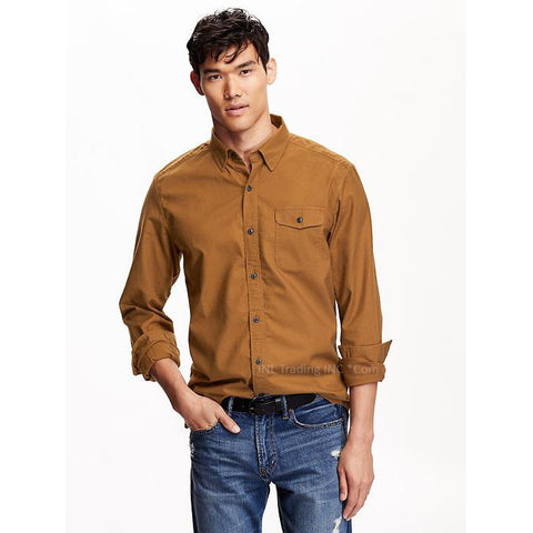 c3b1b9f6e411 Old Navy Men s Regular Fit 100% Cotton Heavy Twill Button Down Shirt – JNL  Trading
