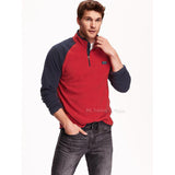Old Navy Men's Mock-Neck Performance Fleece Pullover Sweater in Red