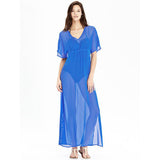 Old Navy Women's Crinkle-Chiffon Maxi Beach/Pool Swim Sheer Dress Cover-Ups
